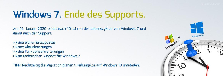 Windows 7 - Ende des Supports